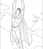coloriage superman 015