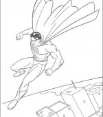 coloriage superman 029