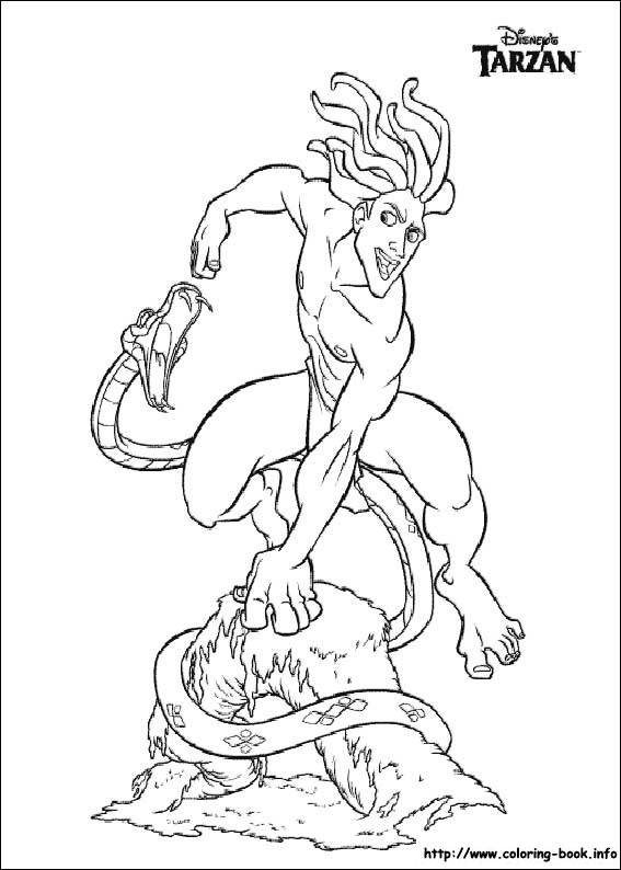 coloriage tarzan 028 - Coloriage Tarzan 3