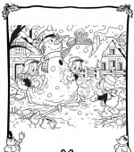 coloriage noel disney 044