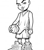 coloriage basketbal 002