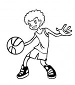 coloriage basketbal 007