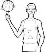 coloriage basketbal 012