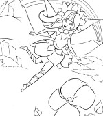 coloriage barbie fairytopia 002