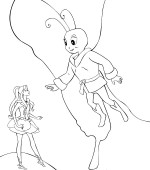 coloriage barbie fairytopia 008