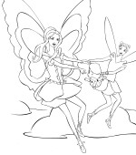 coloriage barbie fairytopia 014