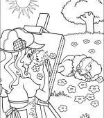 coloriage holly hobbie 009