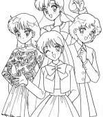 coloriage sailor moon 011